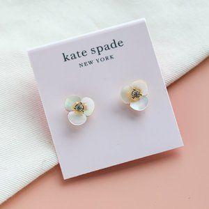 Kate Spade Disco Pansy Pearl MOP Stud Earrings